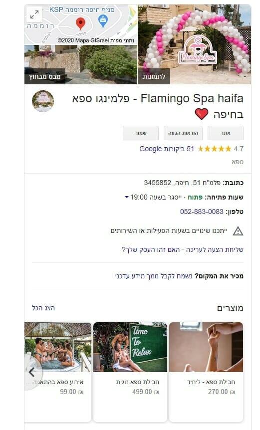 פלמינגו ספא בחיפה Flamingo spa haifa ביקורות ספא פלמינגו בית